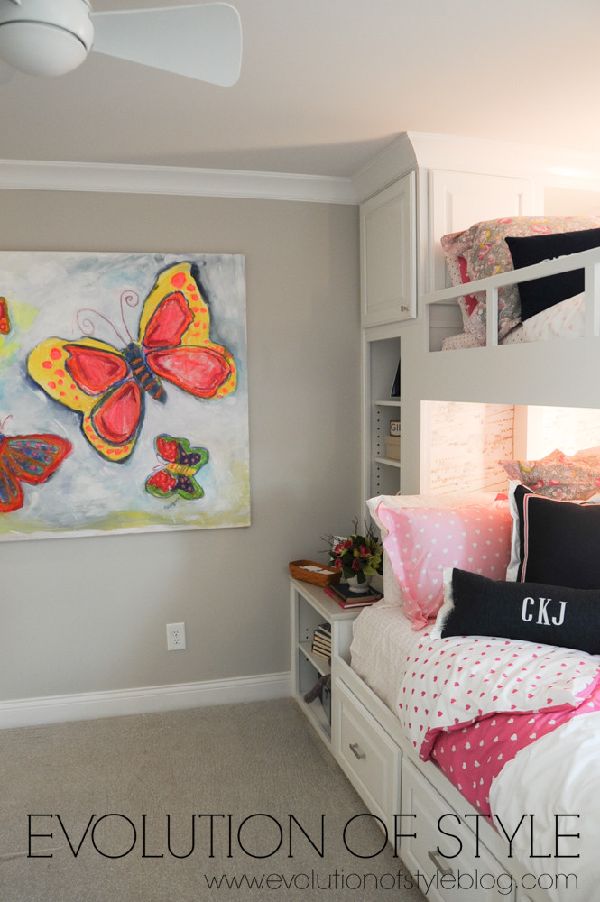 Girls room with bunk beds