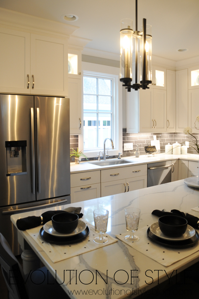 White kitchen with white counters