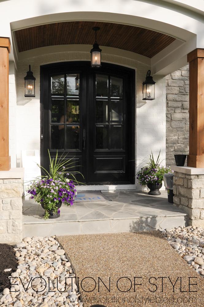 Exterior double front doors