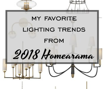 Favorite Lighting Trends 2018