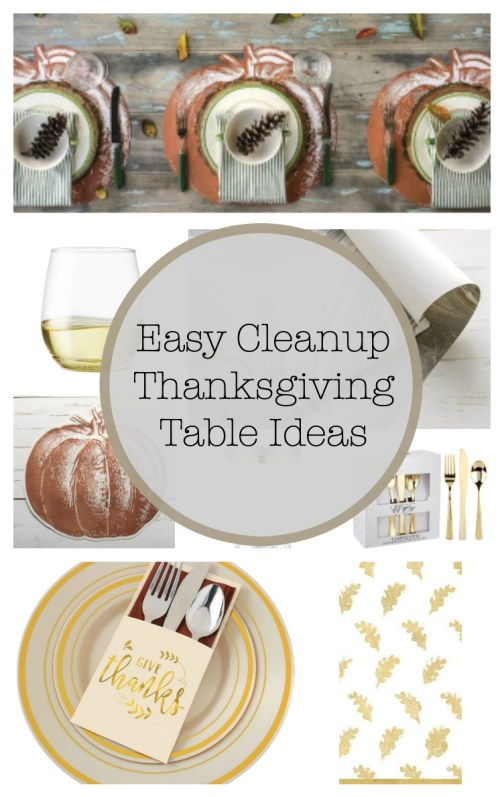 Thanksgiving Table Ideas with Easy Cleanup