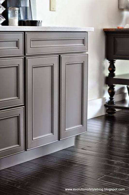 Sherwin Williams Favorite Paint Colors - Gauntlet Gray Cabinets