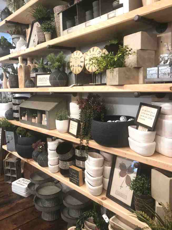 Burlap and Birch Store Display