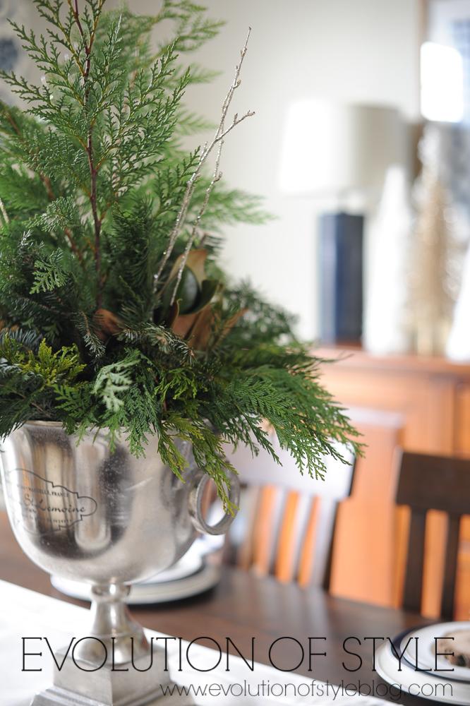 Dining Room Christmas Centerpiece