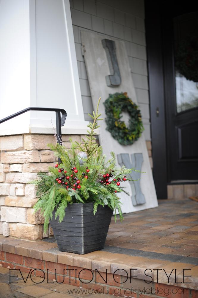 Winter Porch Pots