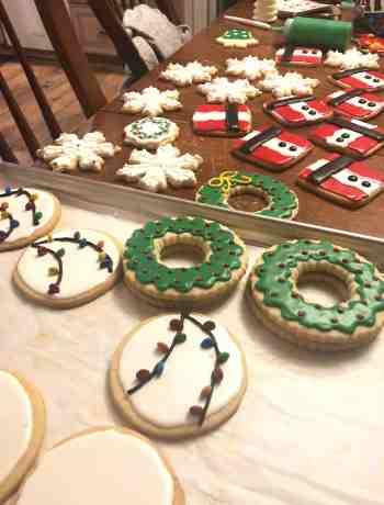 Christmas Cookies - Wreaths, Santas and Snowflakes