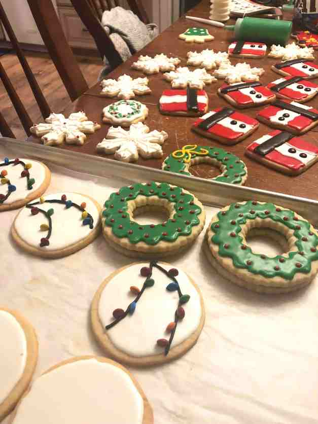 Christmas Cookies - Wreaths, Santas and Snowflakes