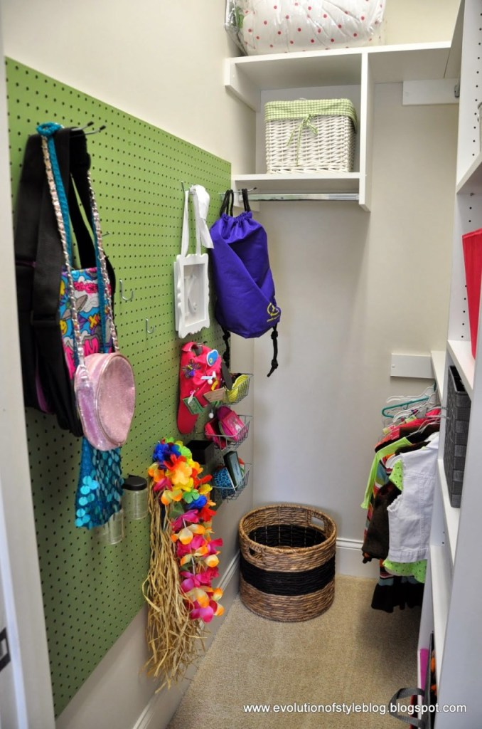 DIY Peg Board Closet Organization