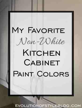 My Favorite Non-White Kitchen Cabinet Paint Colors