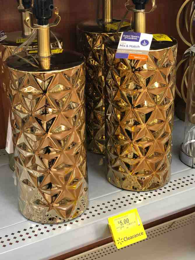 Brassy Lamp Base from Walmart