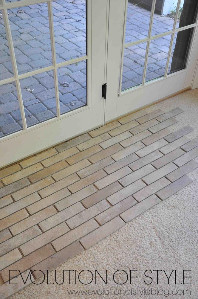 Installing a brick tile floor