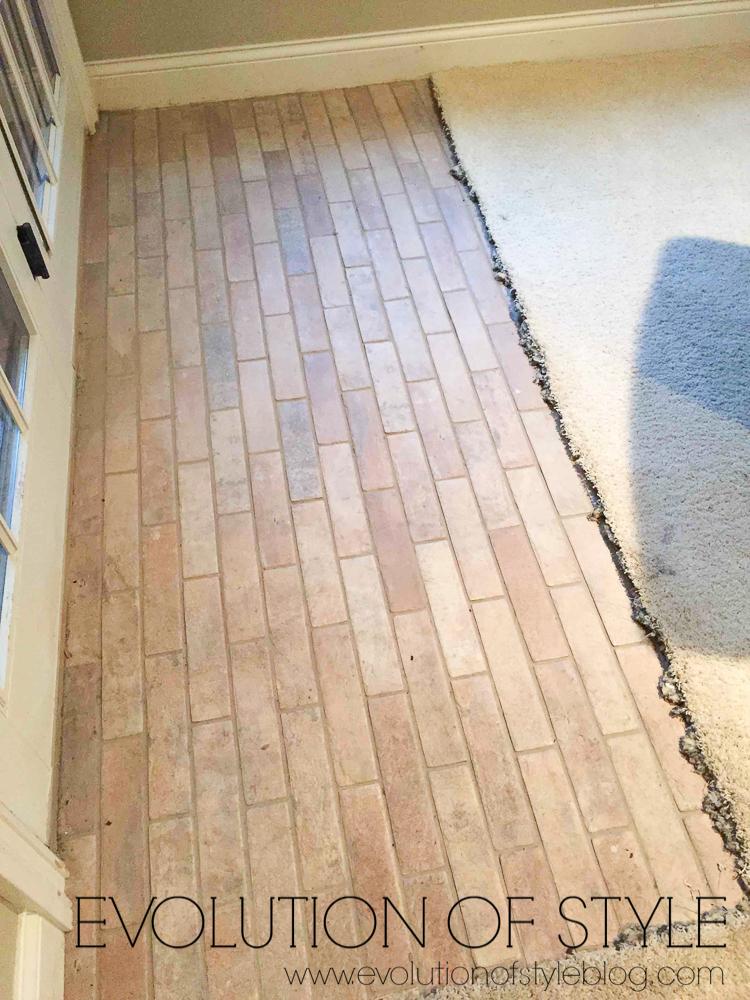 Brick Tile with rough edge