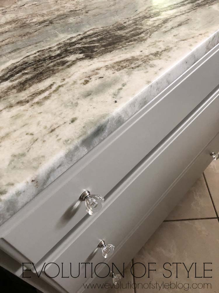 Mindful Gray Sherwin Williams Paint Color - Kitchen Island