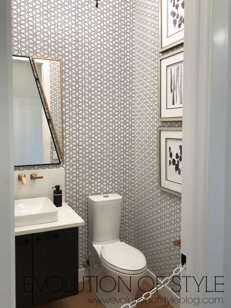 2019 Homearama - The Breckenridge - Graphic Design Powder Room