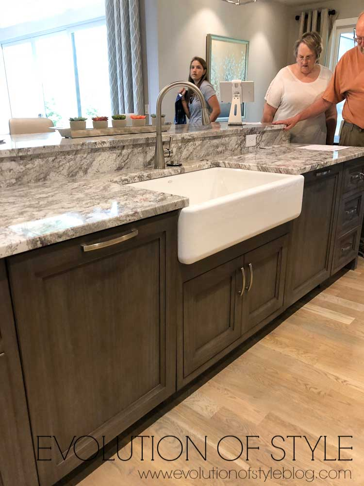 2019 Homearama Day Three - Island with Farmhouse Sink