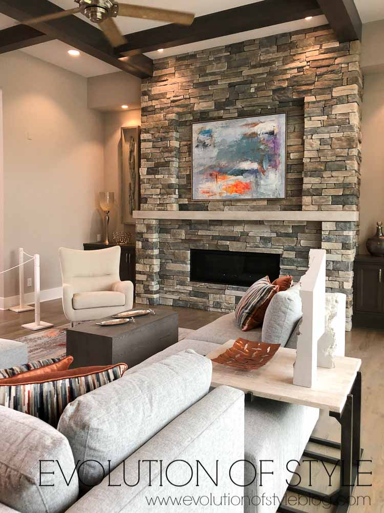 2019 Homearama Day Three - Stone Fireplace