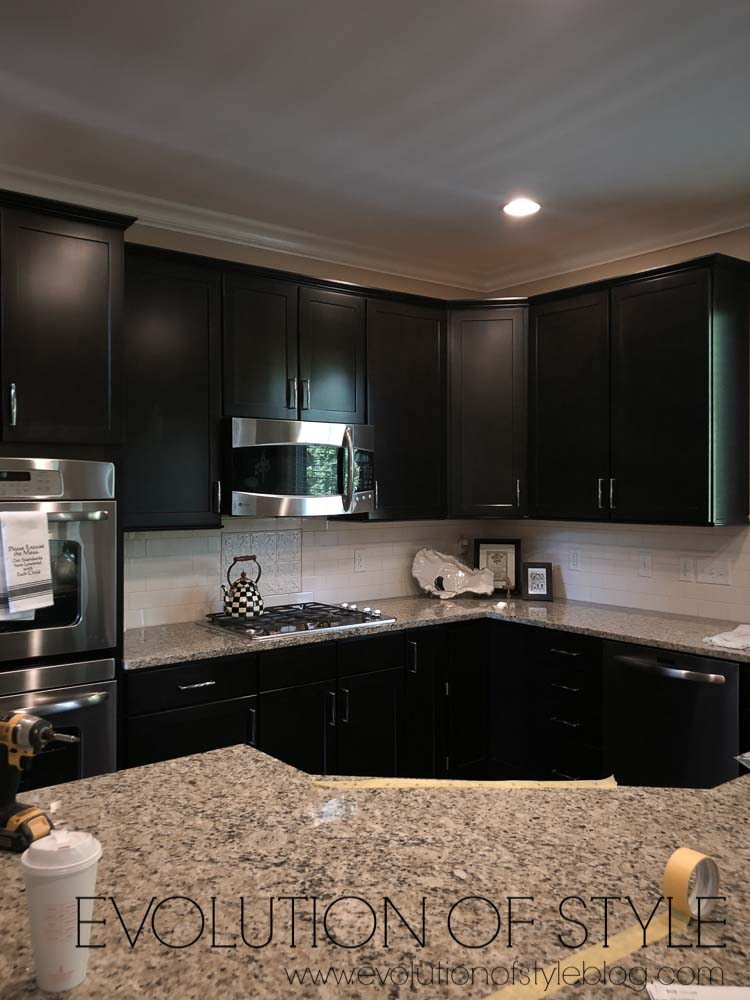 Painted Kitchen Cabinets in PPG's Edelweiss - Evolution of ...