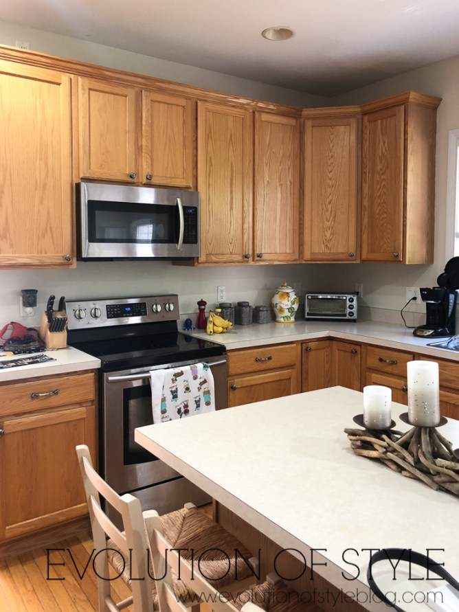 Wood Countertops Kitchen White Cabinets
