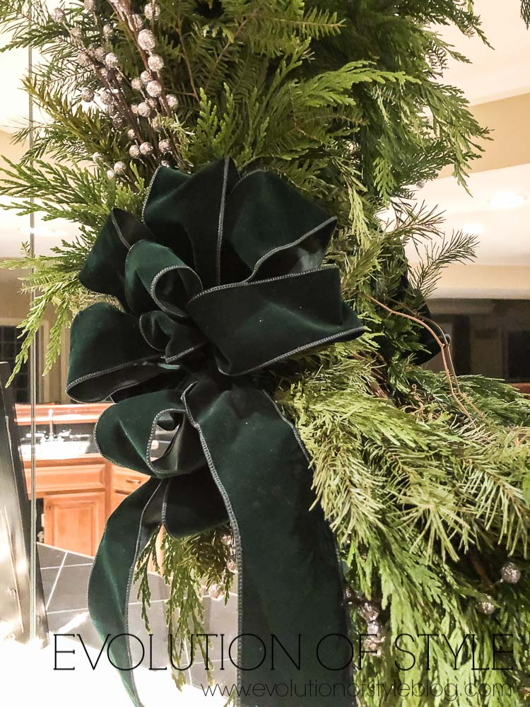 Winter Wreath with Velvet Bow