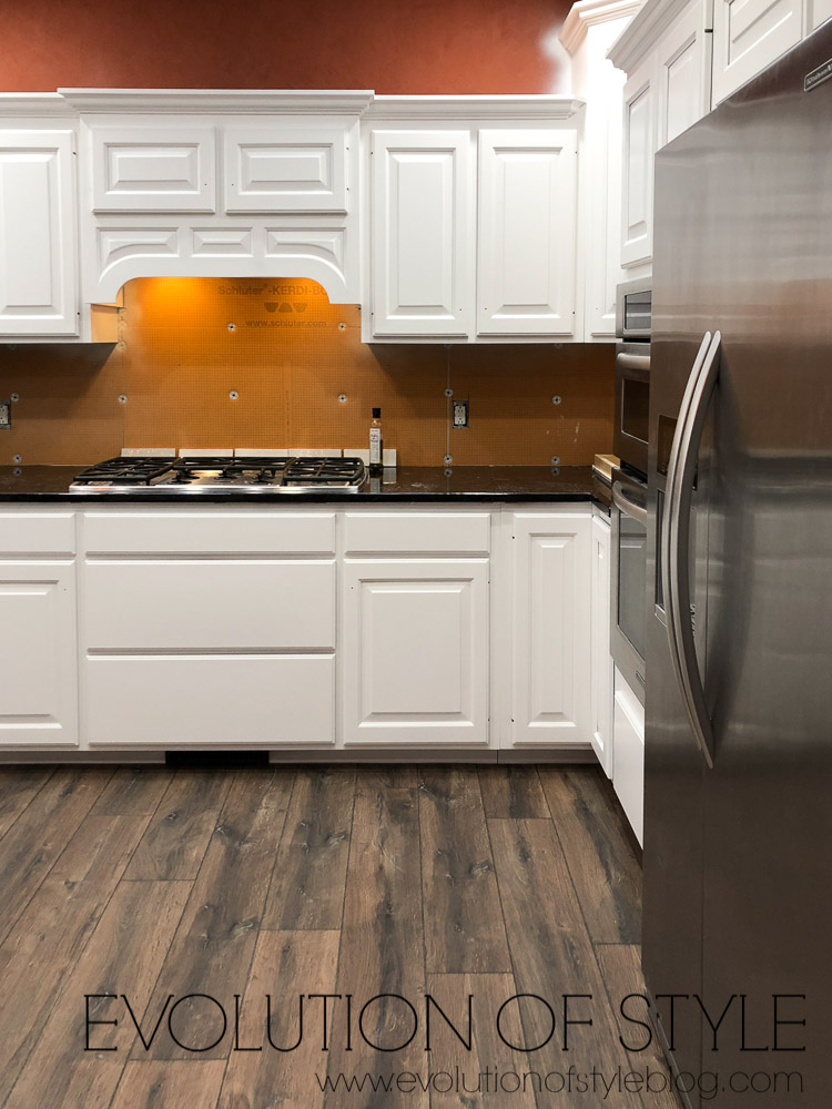 Painted Cabinets in Snowbound - Sherwin Williams