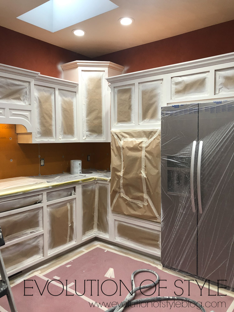 Spraying Cabinets Prep