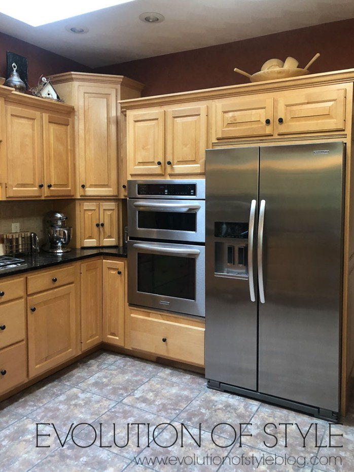 Painted Kitchen Cabinets in Snowbound Before and After
