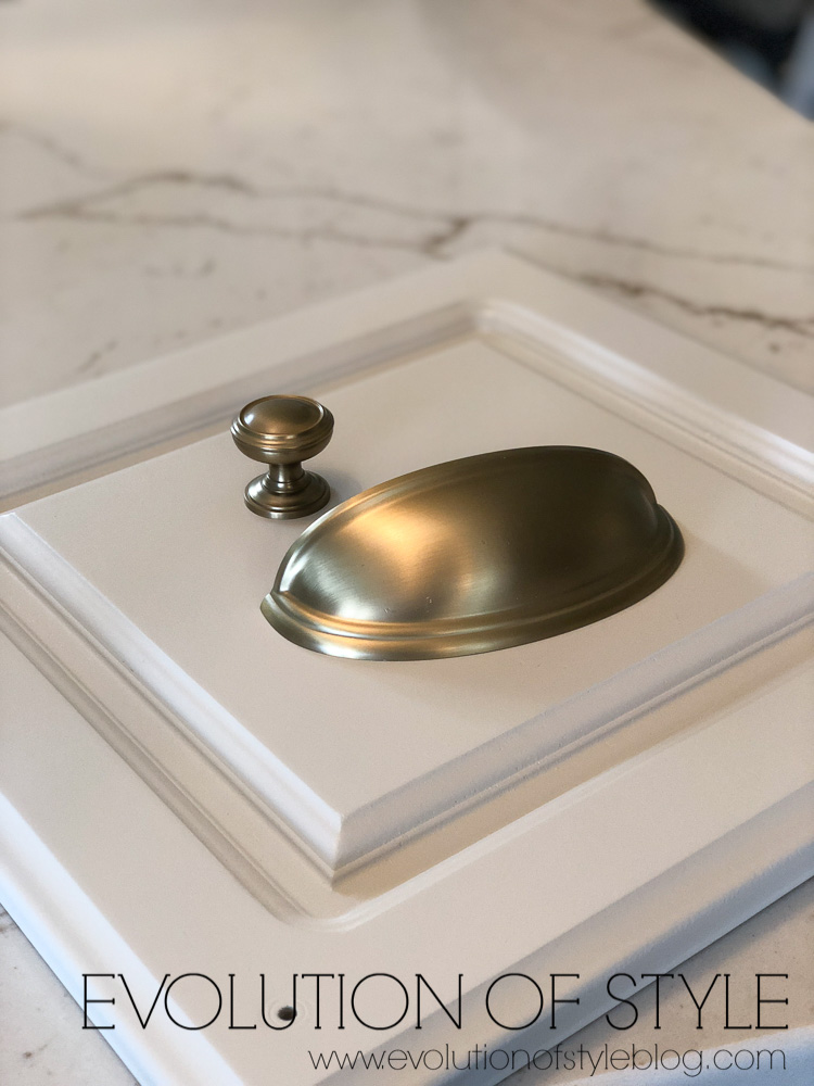 Brass Hardware with Quartz Counters