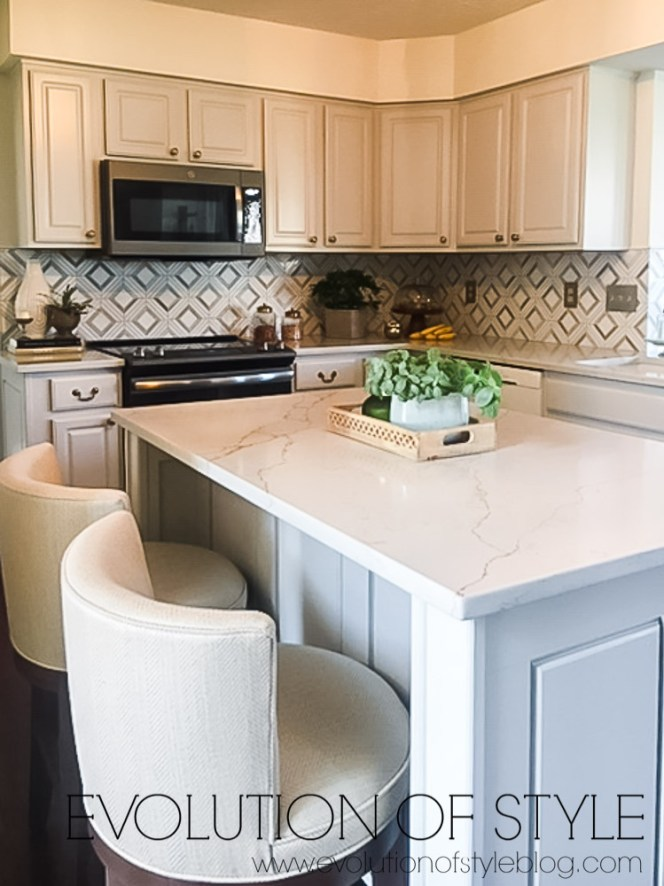 Painted Gray Cabinets - Kitchen Makeover