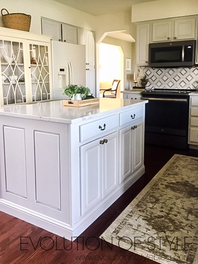 Light Gray Painted Cabinets - Kitchen