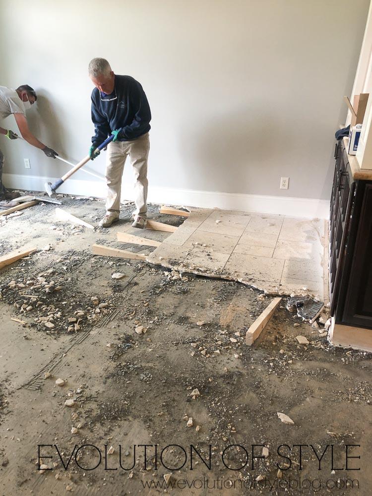 Kitchen Remodel Tile Demo