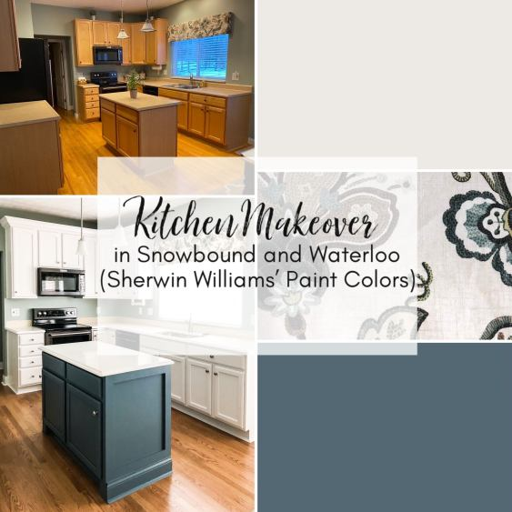 Snowbound and Waterloo Cabinets Sherwin Williams
