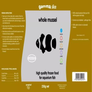 Gamma SLICE Whole Mussel, 250g