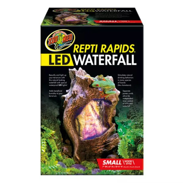 ZooMed ReptiRap.LED Waterfall Small Wood