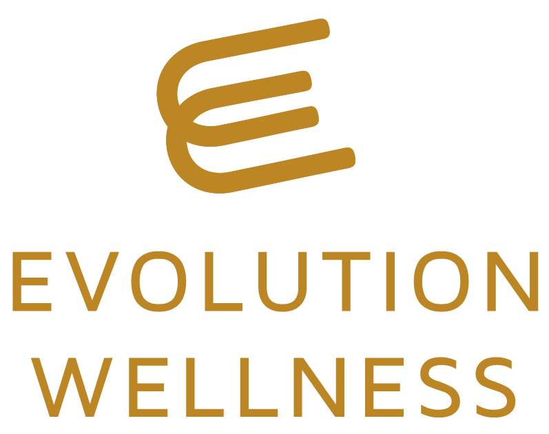 """Image is a graphic of Evolution Wellness' logo with the words """"Evolution Wellness"""" on the picture. This therapy company is hiring for licensed therapist jobs in Wilmington, NC. Looking for counseling jobs or mental health clinician jobs? We are hiring. 28411 