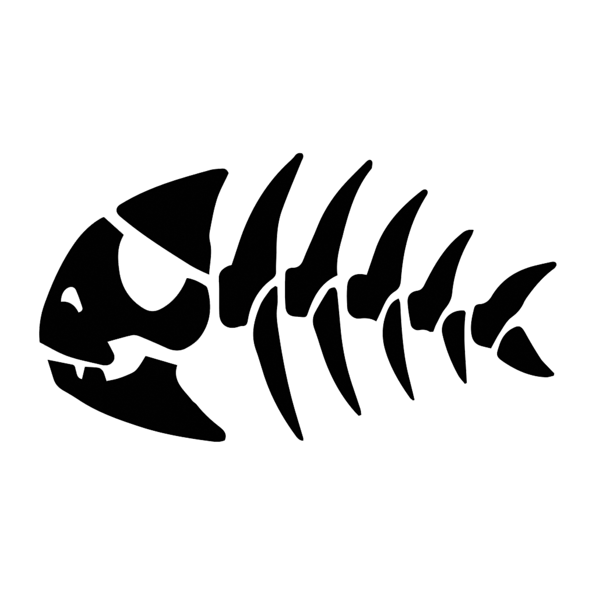 Fsm Jolly Pirate Fish Vinyl Decal