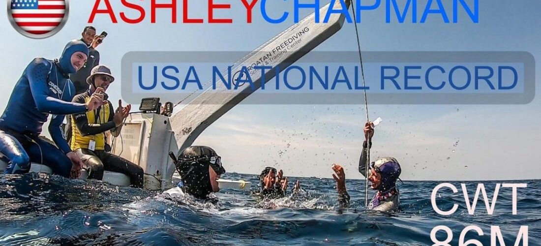 Ashley Chapman record freediver breaks US national record 86 meters
