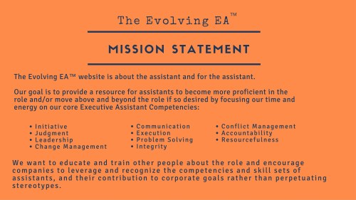 Evolving EA Mission Statement