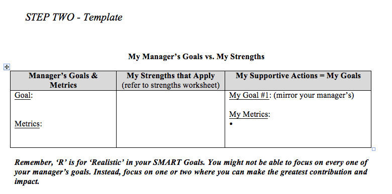Of One Your Strengths That You Will Apply To A Specific Goal Managers Example Is Available In Setting For Assistants