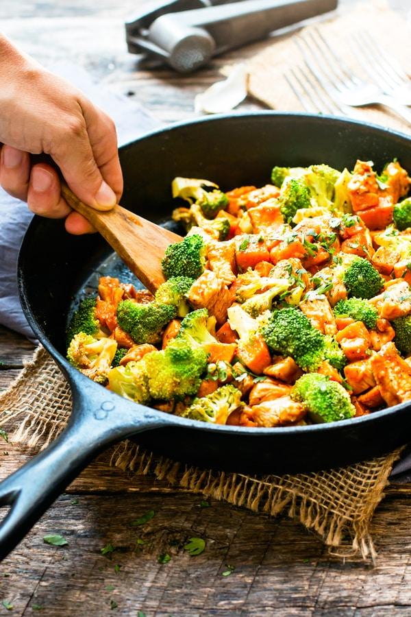 One-Pot Honey BBQ Chicken & Sweet Potatoes | Healthy ...