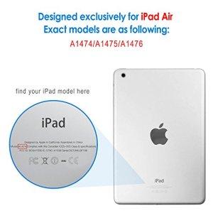 JETech iPad Air Smart Case Coque Etui Housse Support Léger avec Auto Réveil / Veille pour Apple iPad Air 2013 Modèle (Noir) – 0460