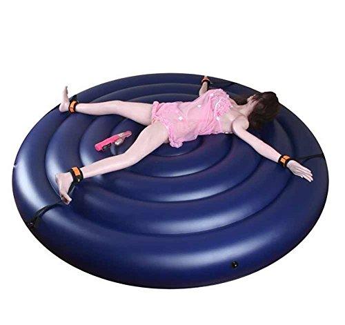 Coussin multifonctionnel imperméable de lit rond de meubles de sexe portatif avec des menottes et des poignets de jambe pour la position de sexe de couples écartés et le sofa de partie à la maison