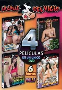 DVD pornographique espagnol–espagnoles, travestis, matures, 18ans 4films dans le même DVD Vol: 7