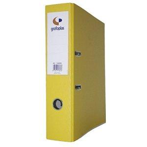Grafoplas Classeur à levier de 45mm dIN-a4–Carton de 2.5mm–grafcolor jaune –