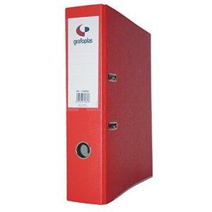 Grafoplas Classeur à levier de 65mm dIN-a4–Carton de 2.5mm–Fourreau En PP–grafcolor Rouge –