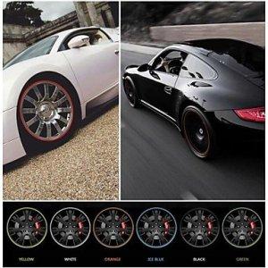 nouvelle vignette de la jante de roue de voiture de style anneau de protection universelle pour plaque tournante de l'automobile 22 » de la , dark gray #-5095