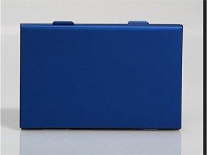 JUHKJHIK Intégré Cas de Carte Mémoire Multifonction pour SD/SDHC/SDXC/Carte microSD/microSDHC/microSDXC/Pro Duo/Compact Flash (6 x Aluminium Bleu SDHC)
