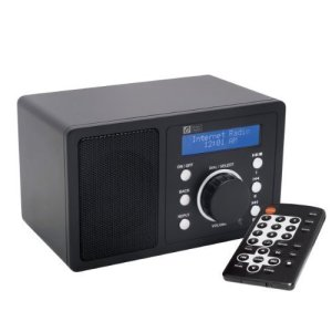 Ocean Digital Internet Radio WR200 Écran de Wi-Fi WLAN Wireless Desktop Media musique récepteur lecteur LCD Display-noir