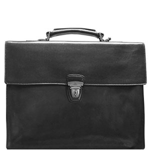 The Bridge Story Uomo Serviette – Porte-documents cuir 40 cm nero