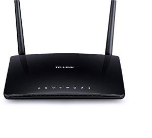 TP-Link Archer D50 Modem Routeur Gigabit ADSL2+ Wi-Fi Double Bande AC1200 (300 Mbps en 2,4 GHz et 867 Mbps en 5 GHz, 4 Ports Ethernet, 1 Port USB, 1 Bouton WPS)