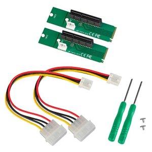 Demiawaking Lot de 2NGFF M2vers PCI-E 4x Slot Riser Card M Clé M.2vers PCI Express adaptateur convertisseur pour BTC Minière 01